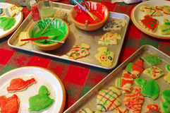 Christmas Sugar Cookies Work Table Stock Images