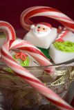Christmas Sugar Cubes Close-Up Royalty Free Stock Images