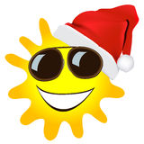Christmas sun  cartoon Royalty Free Stock Images