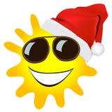 Christmas sun  cartoon Royalty Free Stock Images