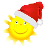 Christmas sun  design Stock Photos