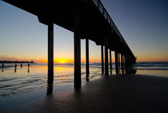 Christmas sunset at Scripps Pier Sunset - 2 Royalty Free Stock Photography