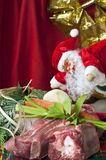 Christmas at the supermarket Royalty Free Stock Photo