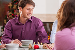 Christmas supper Royalty Free Stock Image