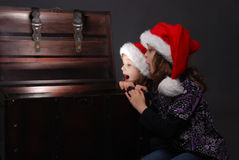 Christmas surprise Stock Images