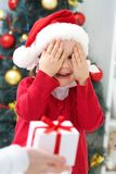Christmas surprise Stock Photography