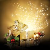 Christmas Surprise Gift Box Royalty Free Stock Image
