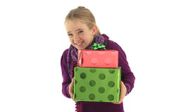 Christmas surprise gift Royalty Free Stock Photos