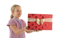 Christmas surprise gift Stock Photography