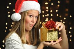 Christmas Surprise Opened! Stock Image