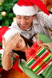 Christmas surprised Royalty Free Stock Photo