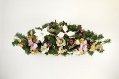 Christmas Swag 1. Swag made of dried and silk flowers Royalty Free Stock Images