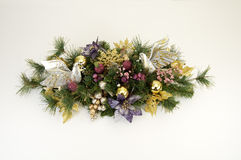Christmas Swag 2. Swag made of dried and silk flowers Stock Photo