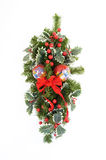 Christmas Swag 6. Swag made of dried and silk flowers Royalty Free Stock Photos
