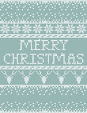 Christmas sweater card. Knitted Sweater Merry Christmas card template royalty free illustration