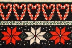 Christmas sweater design. Close up of Christmas sweater design stock photo