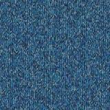 Christmas Sweater Design. Seamless Blue Knitting Pattern. Stock Image