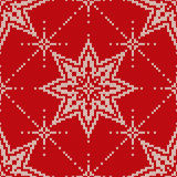 Christmas Sweater Design. Seamless Knitted Pattern with Stars Royalty Free Stock Image
