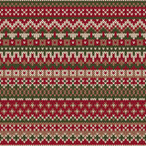 Christmas Sweater Design. Seamless Knitted Pattern in traditiona Royalty Free Stock Image