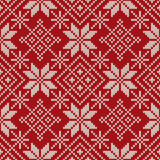 Christmas Sweater Design. Seamless Knitted Pattern Royalty Free Stock Photos