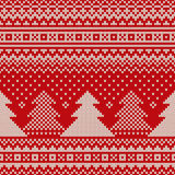 Christmas Sweater Design. Seamless Knitted Pattern Royalty Free Stock Images