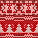 Christmas Sweater Design. Seamless Knitted Pattern Stock Images