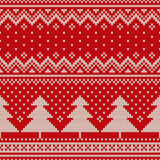 Christmas Sweater Design. Seamless Knitted Pattern Royalty Free Stock Photography