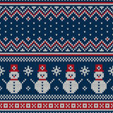 Christmas Sweater Design. Seamless Knitted Pattern Royalty Free Stock Photo