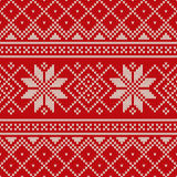 Christmas Sweater Design. Seamless Knitting Pattern Stock Photos