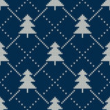 Christmas Sweater Design. Seamless Knitting Pattern Stock Photography