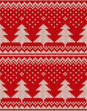 Christmas Sweater Design. Seamless Pattern with Christmas Trees Stock Photos