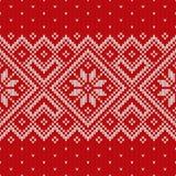 Christmas Sweater Design. Seamless Pattern Stock Photos