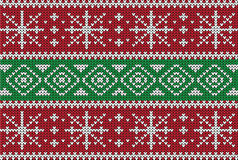 Christmas Sweater Design. Seamless Pattern Stock Image