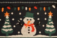 Christmas sweater details. Close up of Christmas sweater details stock image