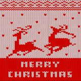 Christmas Sweater Pattern Royalty Free Stock Photos