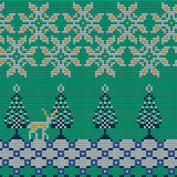 Christmas Sweater Pattern 12. Vector Illustration of Knitted Sweater Seamless Pattern for Design, Website, Background, Banner. Christmas Ornament for Wallpaper Stock Photos