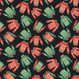 Christmas sweater pattern vector illustration