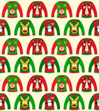 Christmas Sweater Seamless Stock Image