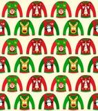 Christmas Sweater Seamless Stock Image