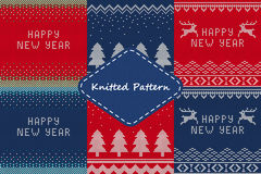 Christmas sweater Set4 Royalty Free Stock Image