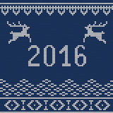 Christmas sweater 5. Vector Illustration of Ugly sweater Party for Design, Website, Background, Banner. Happy New Year 2016 Knitted Retro cloth with Snowflake Stock Photography