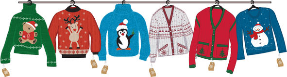 Christmas sweaters royalty free illustration