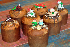 Christmas sweet bread Royalty Free Stock Images