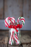 Christmas sweet candy in the glass on the background Stock Photo