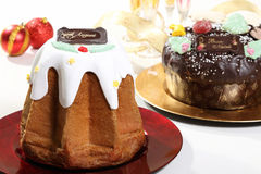 Christmas sweet pandoro Royalty Free Stock Photography