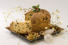 Christmas Sweet. Panettone. Royalty Free Stock Photography