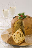 Christmas Sweet. Panettone. Royalty Free Stock Images