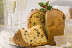 Christmas Sweet. Panettone. Royalty Free Stock Photos