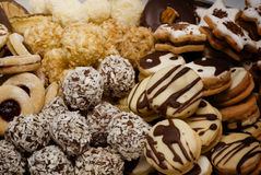 Christmas sweetmeats. Assortment of delicious home-made Christmas cookies Stock Image