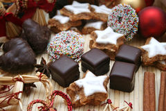 Christmas Sweets. Delicious Christmas sweets including cookies and chocolates Royalty Free Stock Images